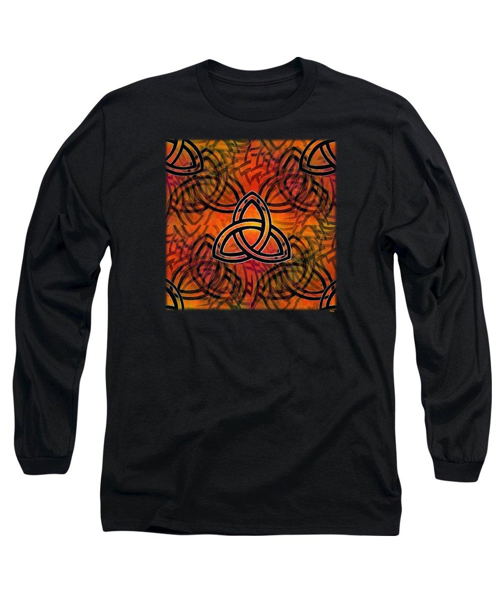 Glenn Mccarthy Long Sleeve T-Shirt featuring the digital art Abstract - Trinity by Glenn McCarthy Art and Photography