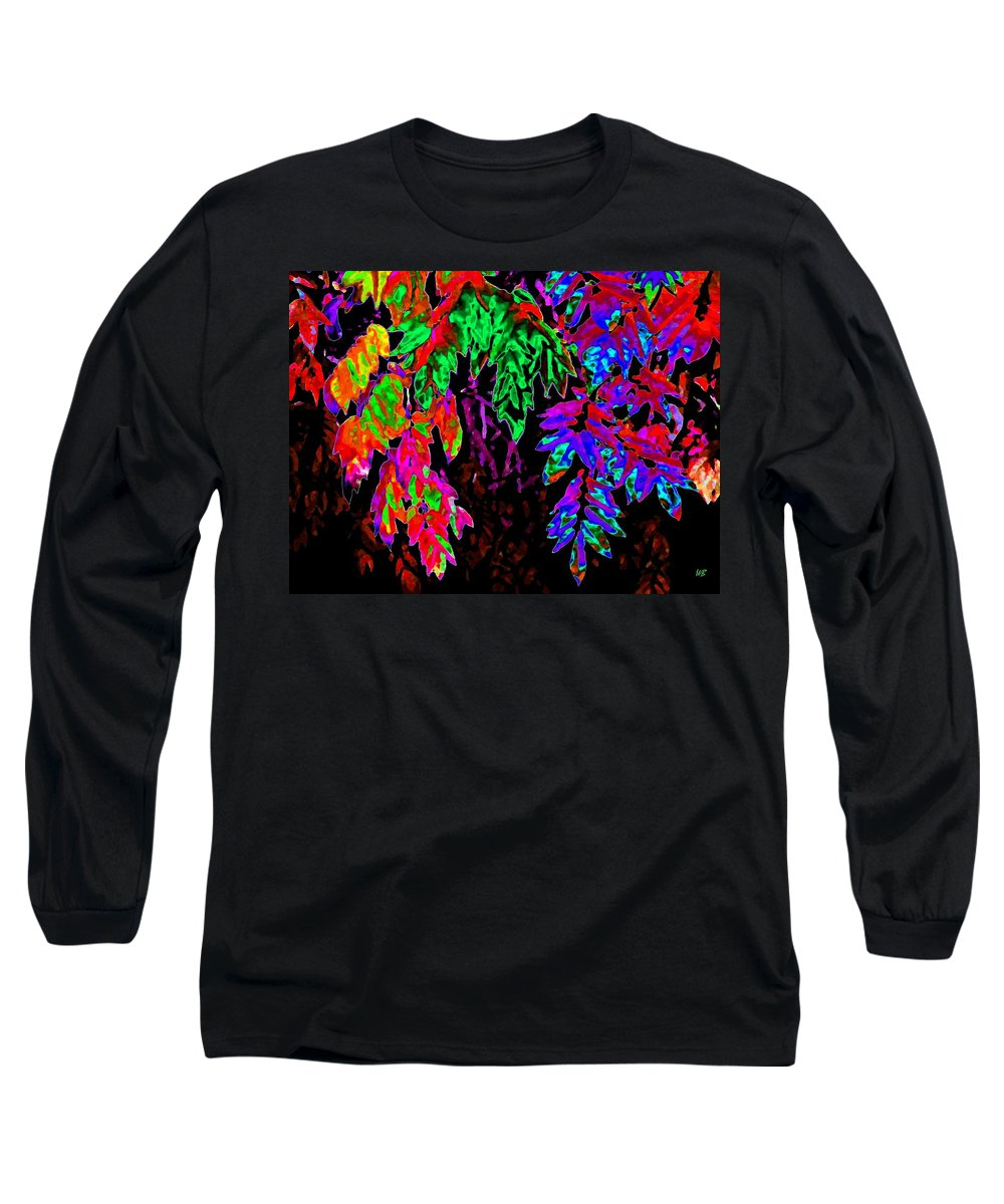 Abstract Long Sleeve T-Shirt featuring the digital art Abstract Wisteria by Will Borden