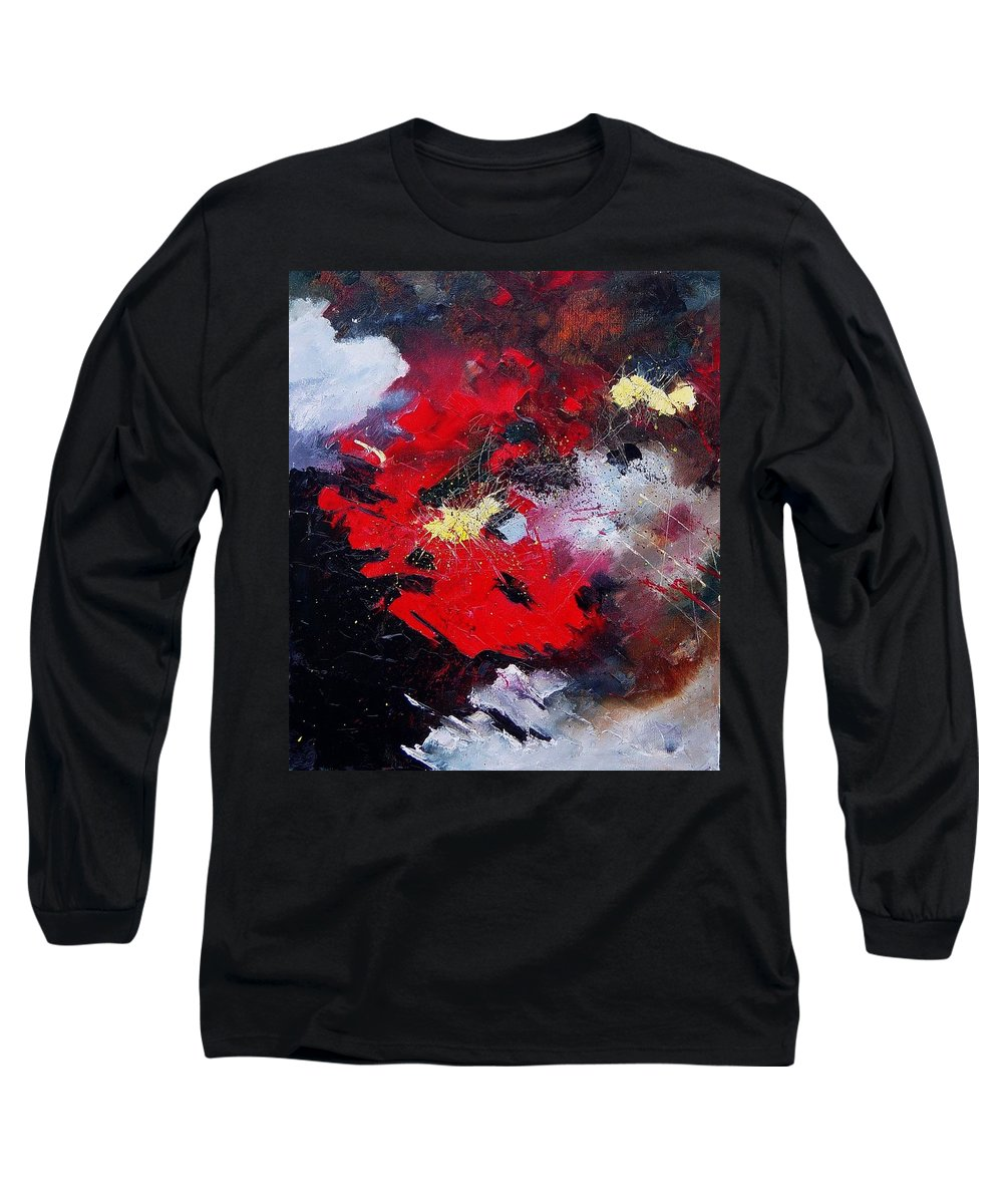 Abstract Long Sleeve T-Shirt featuring the painting Abstract070406 by Pol Ledent