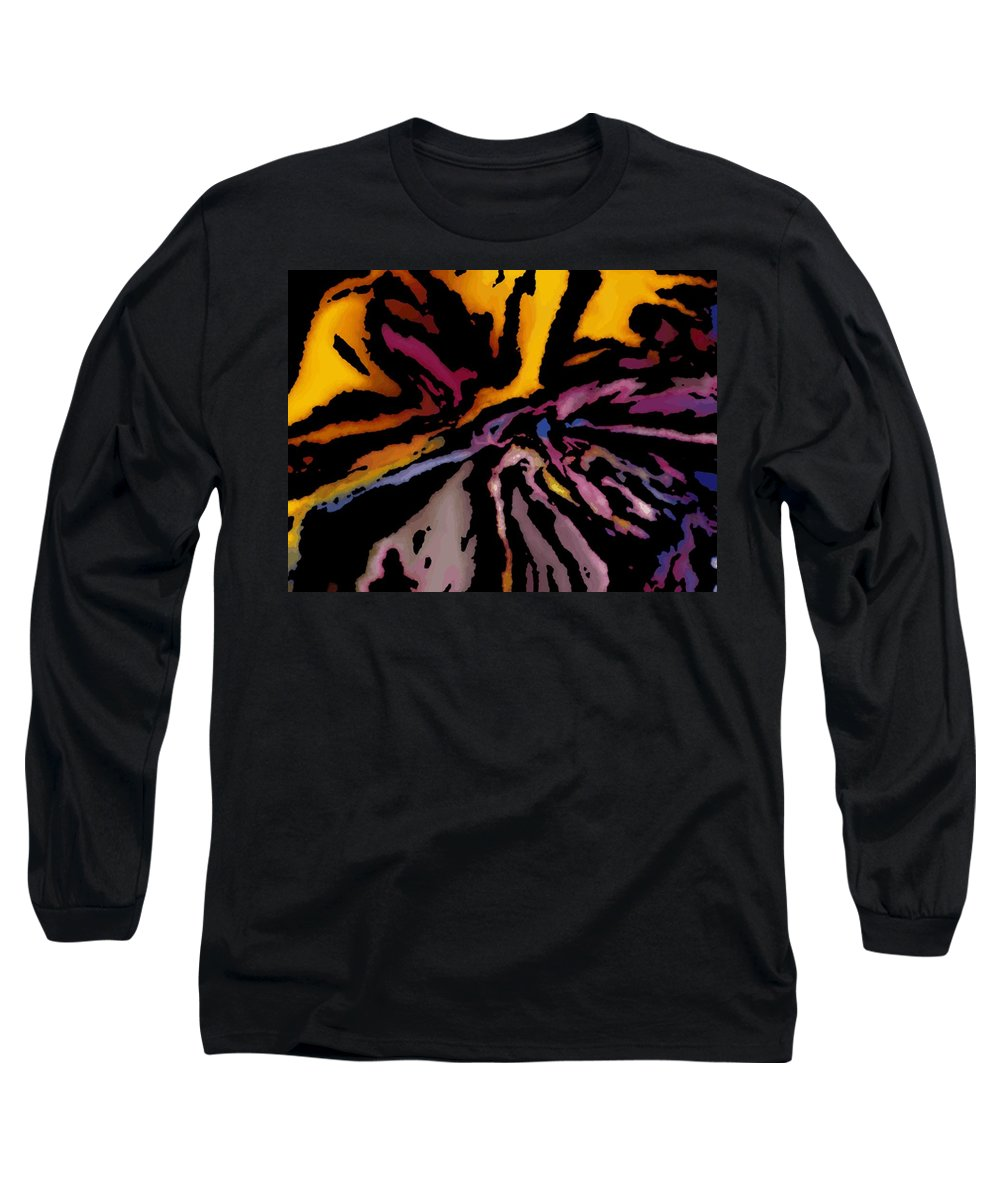 Abstract Long Sleeve T-Shirt featuring the digital art Abstract309g by David Lane