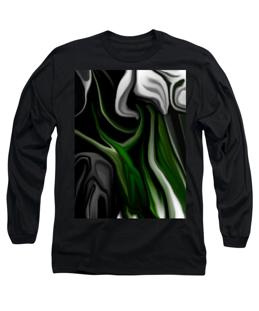 Abstract Long Sleeve T-Shirt featuring the digital art Abstract309h by David Lane