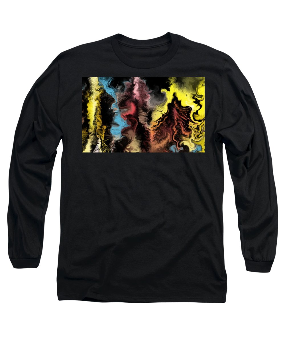 Abstract Long Sleeve T-Shirt featuring the digital art Abstract309i by David Lane