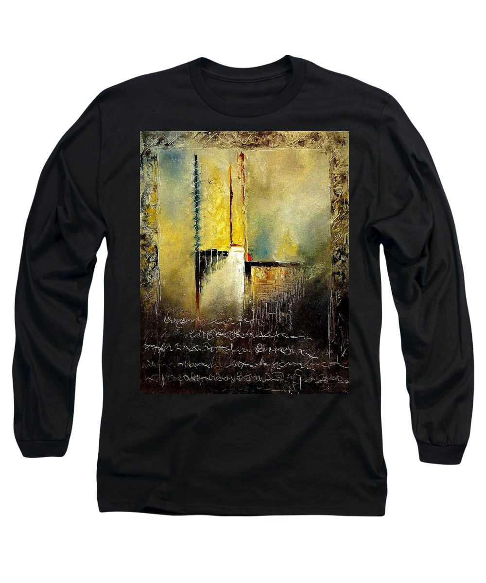 Abstract Long Sleeve T-Shirt featuring the painting Abstrct 3 by Pol Ledent