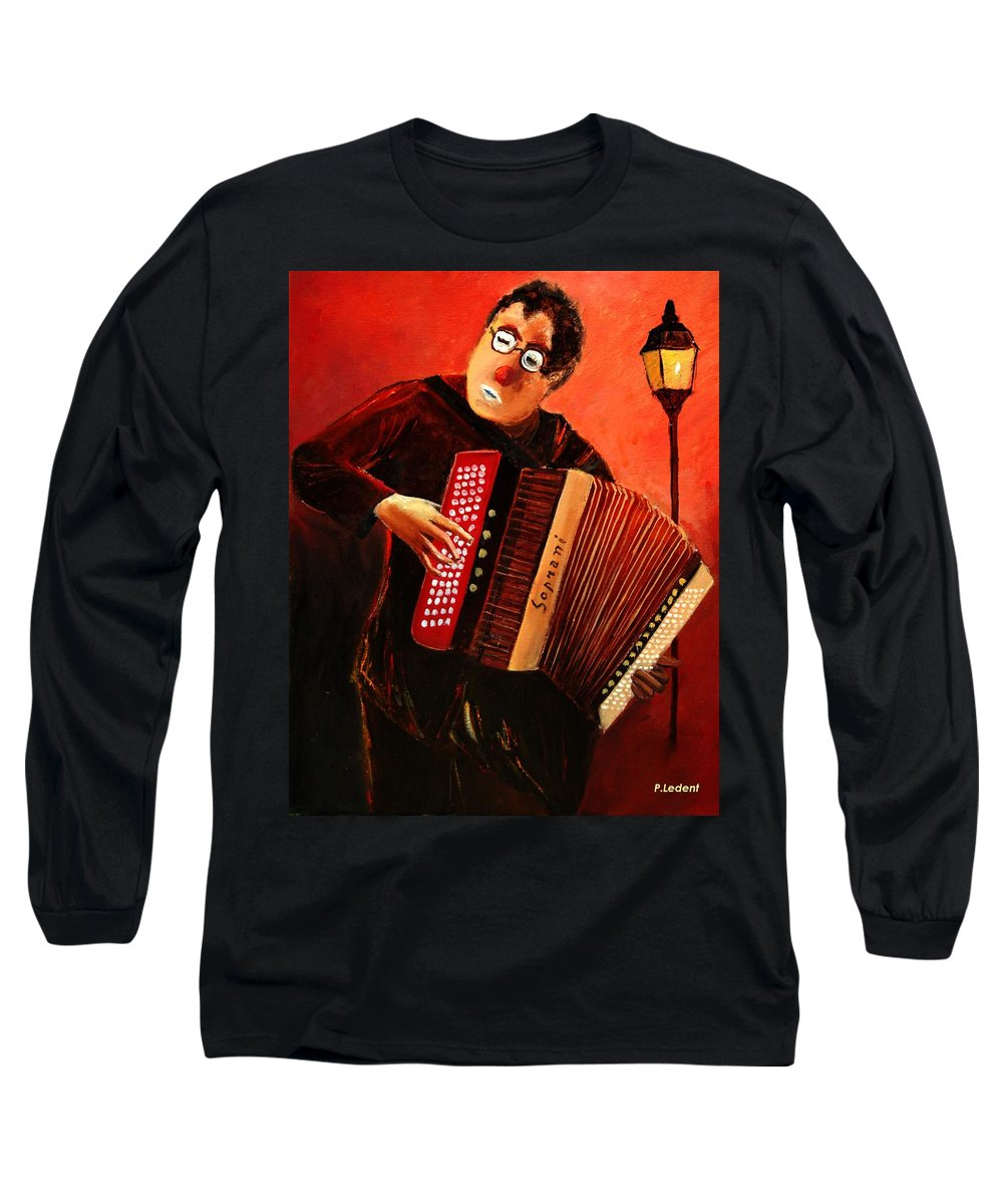 Music Long Sleeve T-Shirt featuring the print Accordeon by Pol Ledent