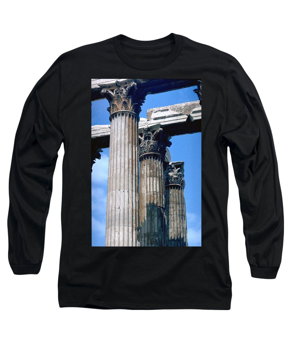 Acropolis Long Sleeve T-Shirt featuring the photograph Acropolis by Flavia Westerwelle