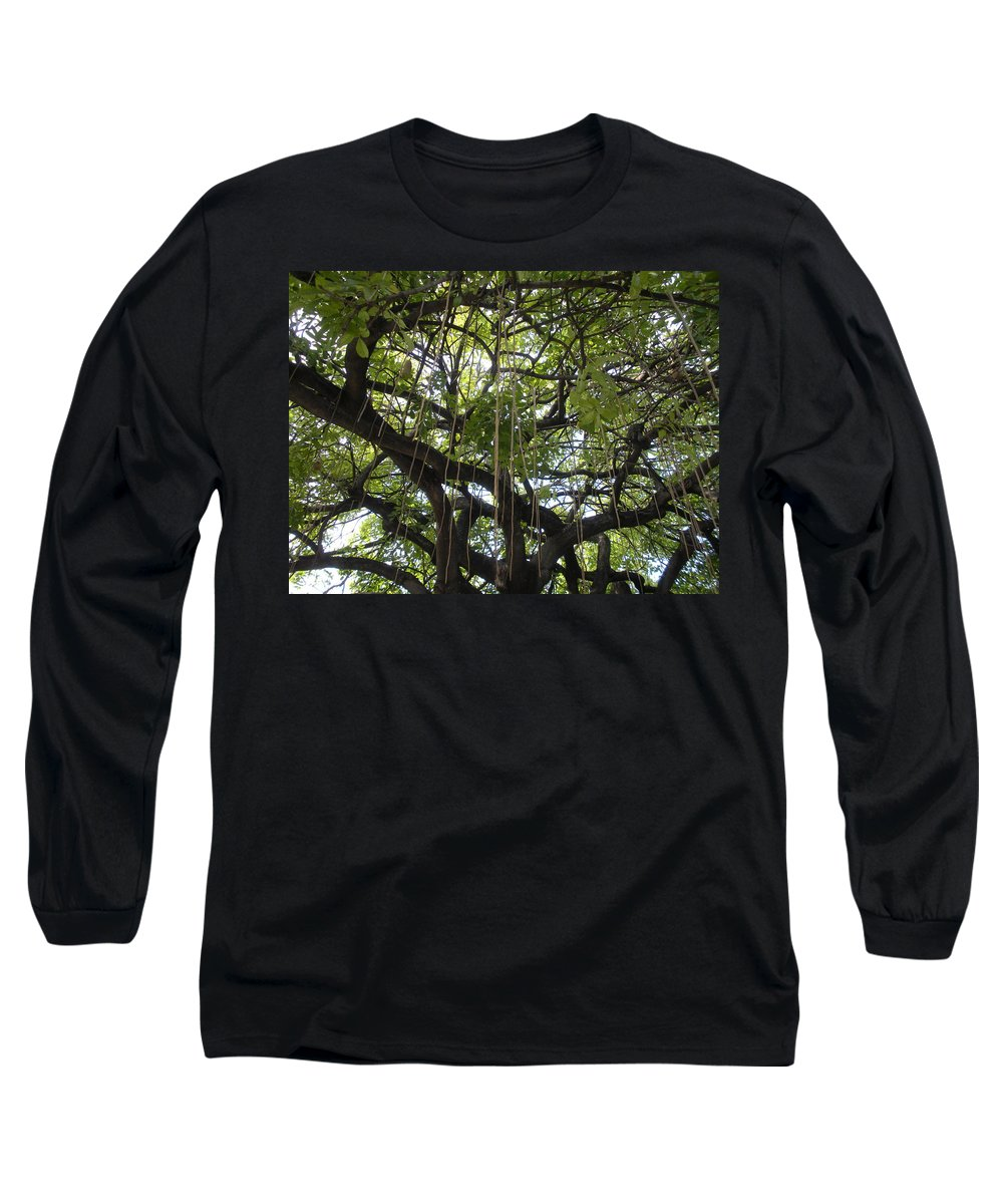 Trees Long Sleeve T-Shirt featuring the photograph Aerial Network I by Maria Bonnier-Perez