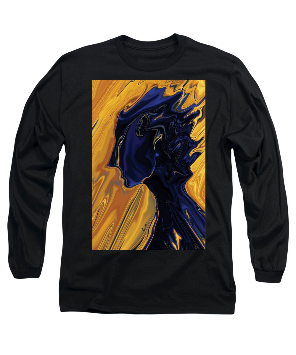 Abstract Long Sleeve T-Shirt featuring the digital art Against The Wind by Rabi Khan