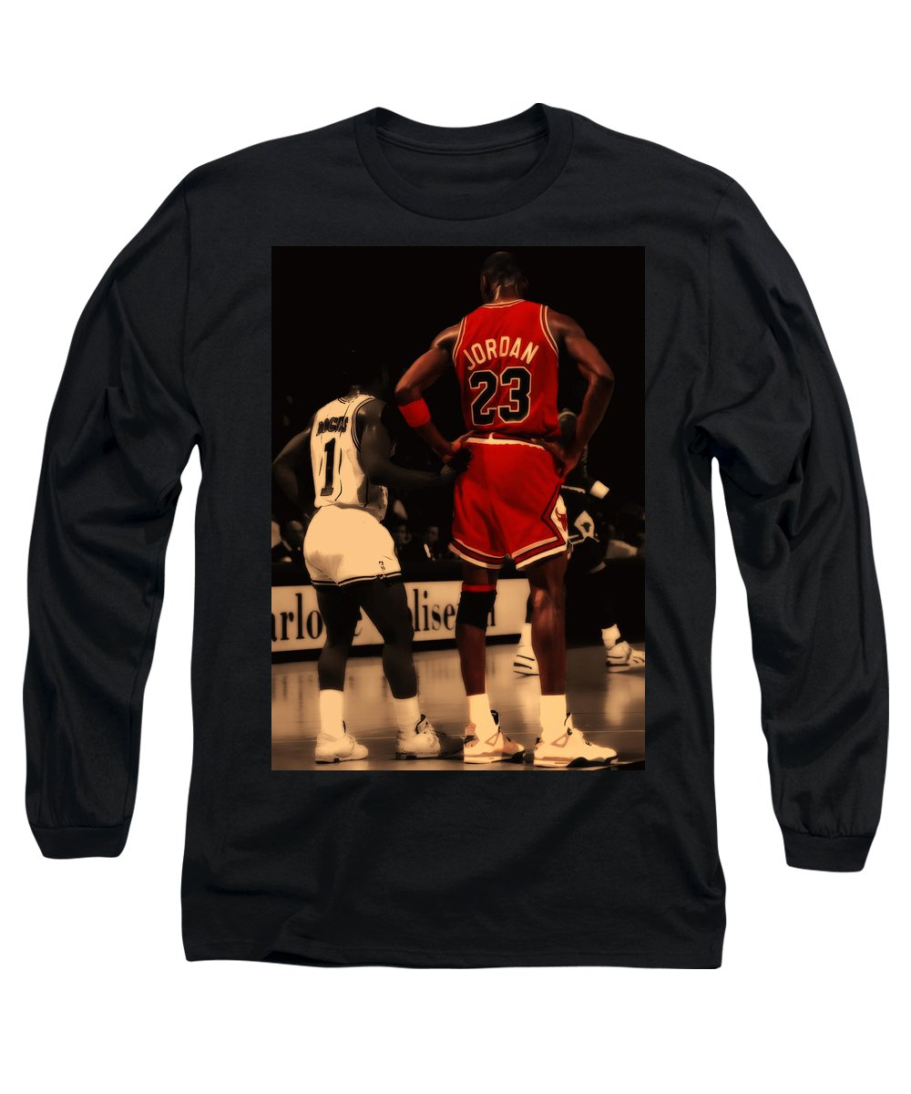 affordable price designer fashion new products Air Jordan And Muggsy Bogues Long Sleeve T-Shirt