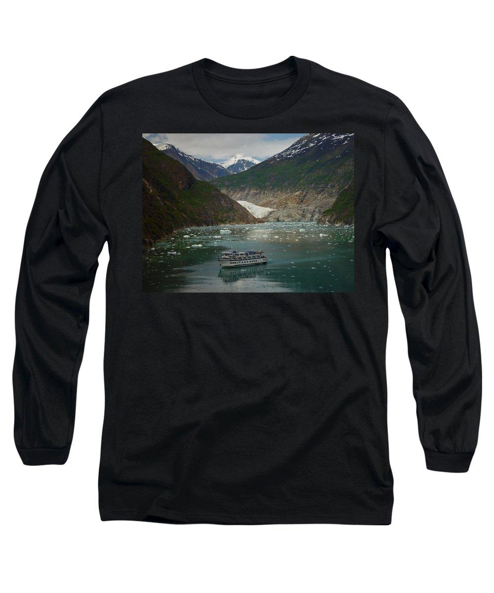Alaska Long Sleeve T-Shirt featuring the photograph Alaska Endicott Glacier by Heather Coen