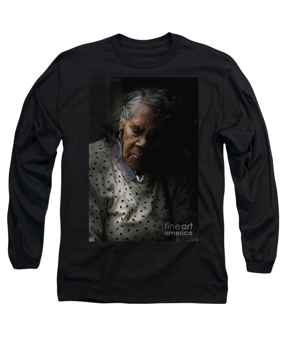 Portrait Long Sleeve T-Shirt featuring the photograph Alice by Avalon Fine Art Photography