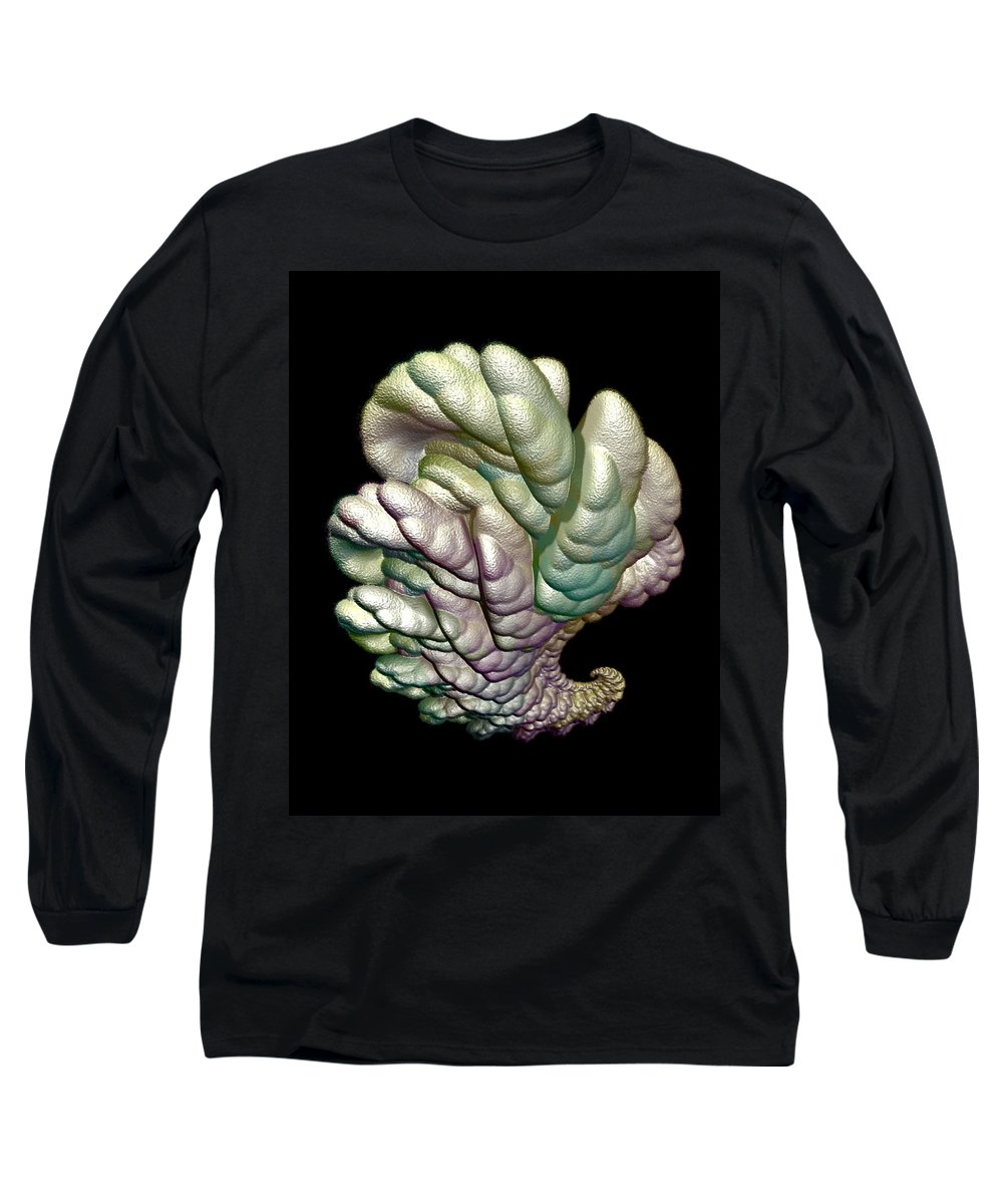 Fractal Long Sleeve T-Shirt featuring the digital art Alien Brain by Frederic Durville