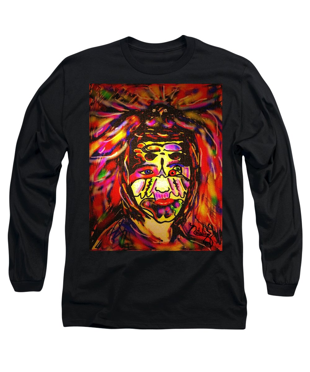 Man Long Sleeve T-Shirt featuring the painting All Seeing Eye by Natalie Holland