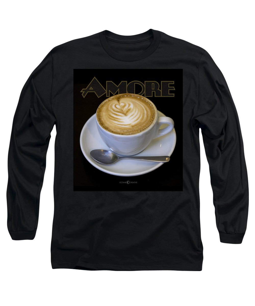 Coffee Long Sleeve T-Shirt featuring the photograph Amore Poster by Tim Nyberg