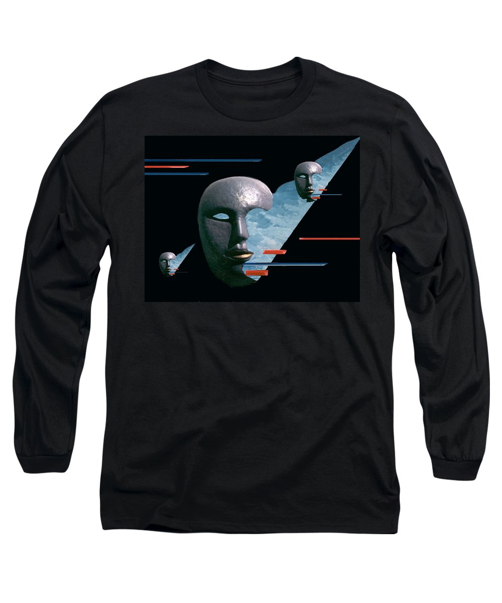 Surreal Long Sleeve T-Shirt featuring the digital art An Androids Dream by Steve Karol