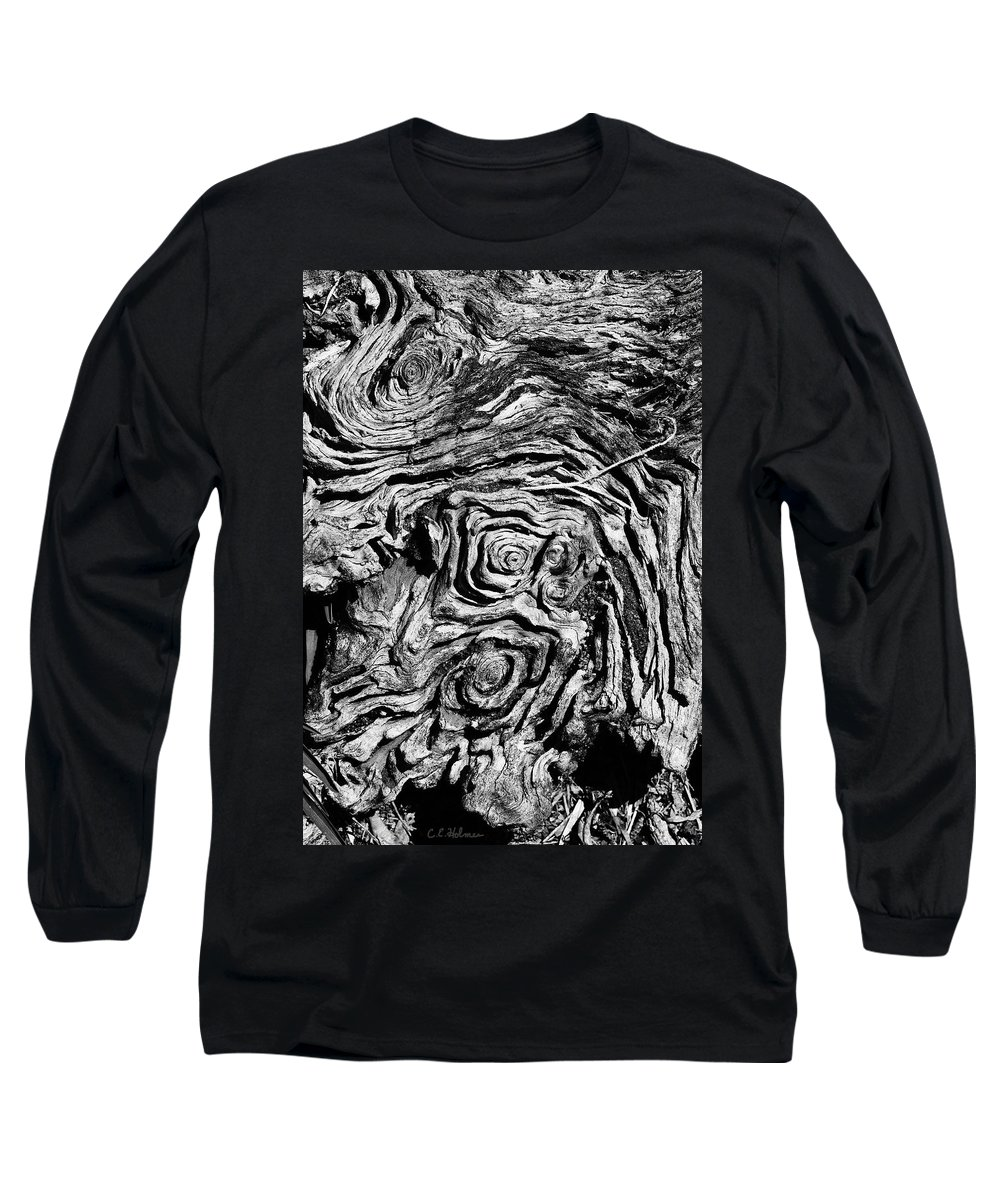 Tree Long Sleeve T-Shirt featuring the photograph Ancient Stump by Christopher Holmes