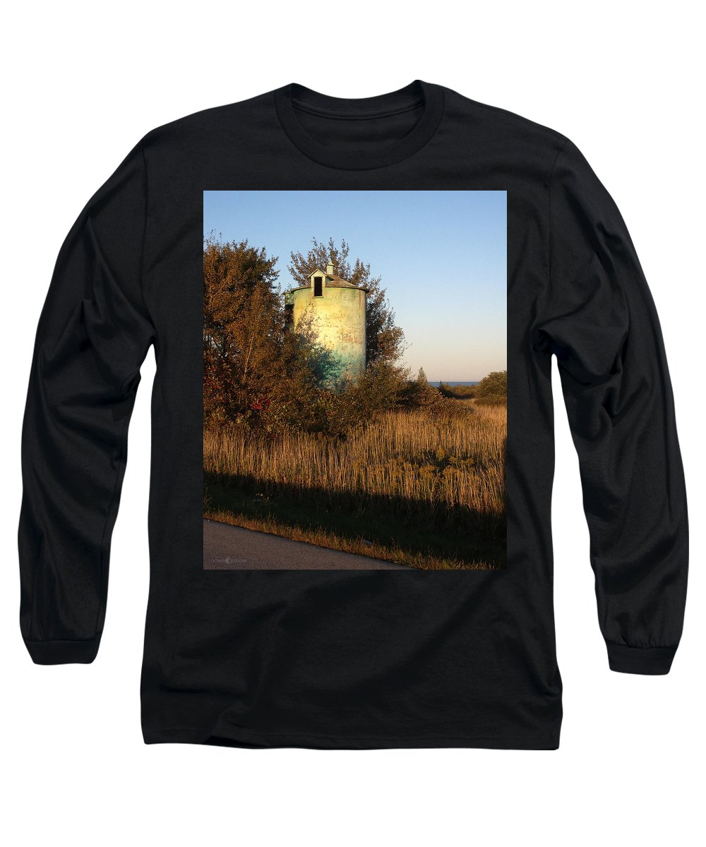 Silo Long Sleeve T-Shirt featuring the photograph Aqua Silo by Tim Nyberg