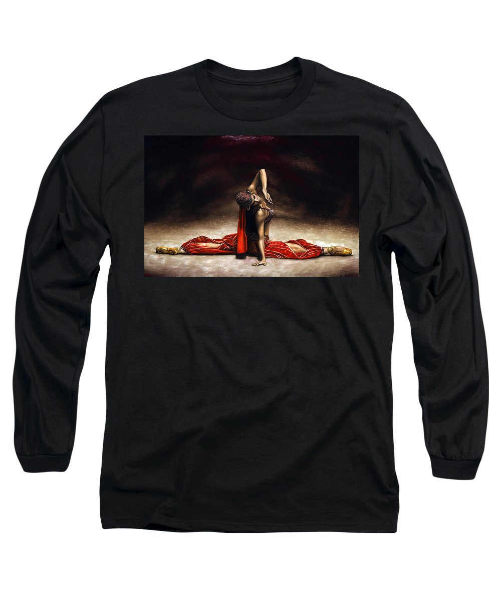 Ballerina Long Sleeve T-Shirt featuring the painting Arabian Coffee by Richard Young
