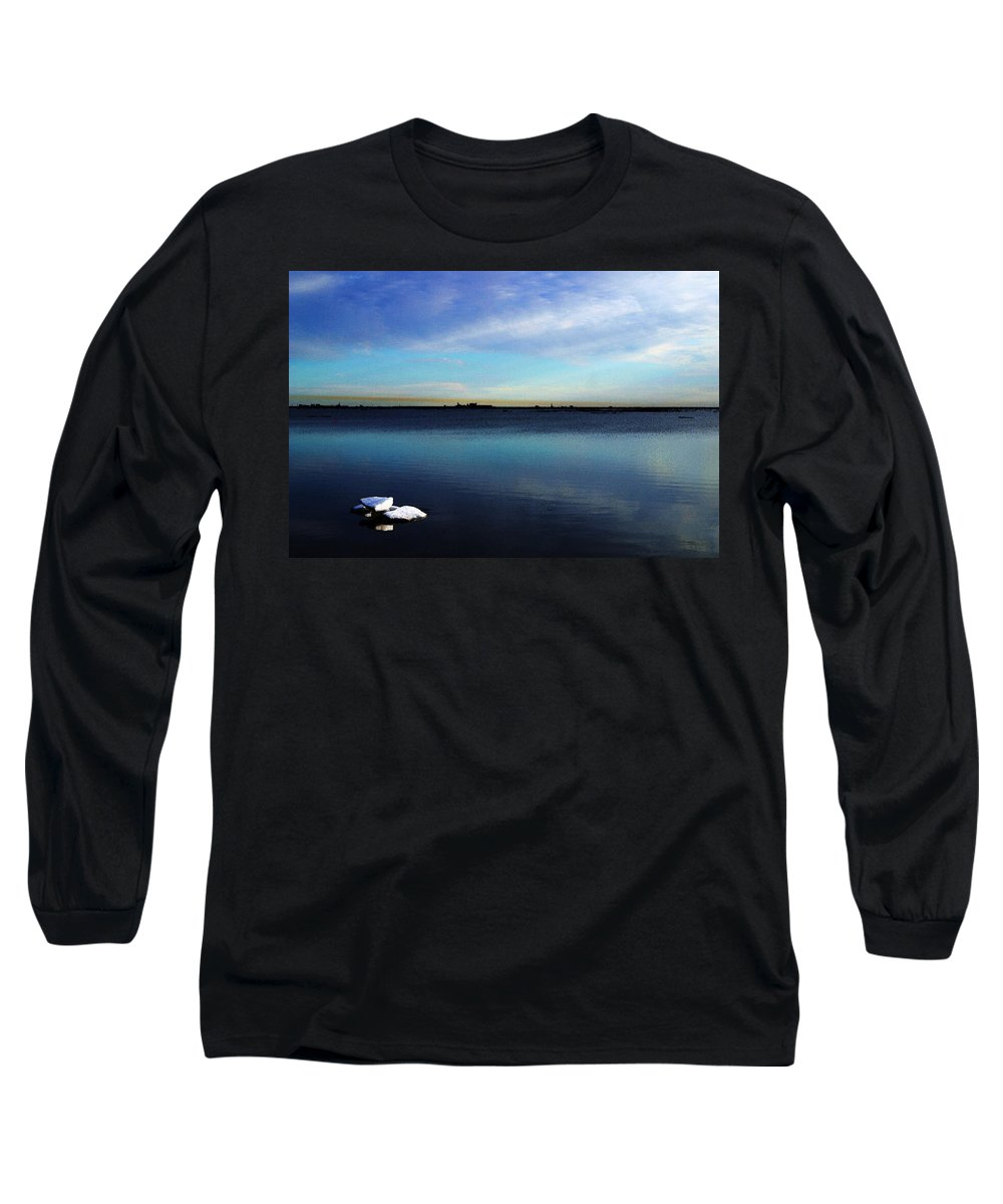 Digital Art Long Sleeve T-Shirt featuring the digital art Arctic Ice by Anthony Jones