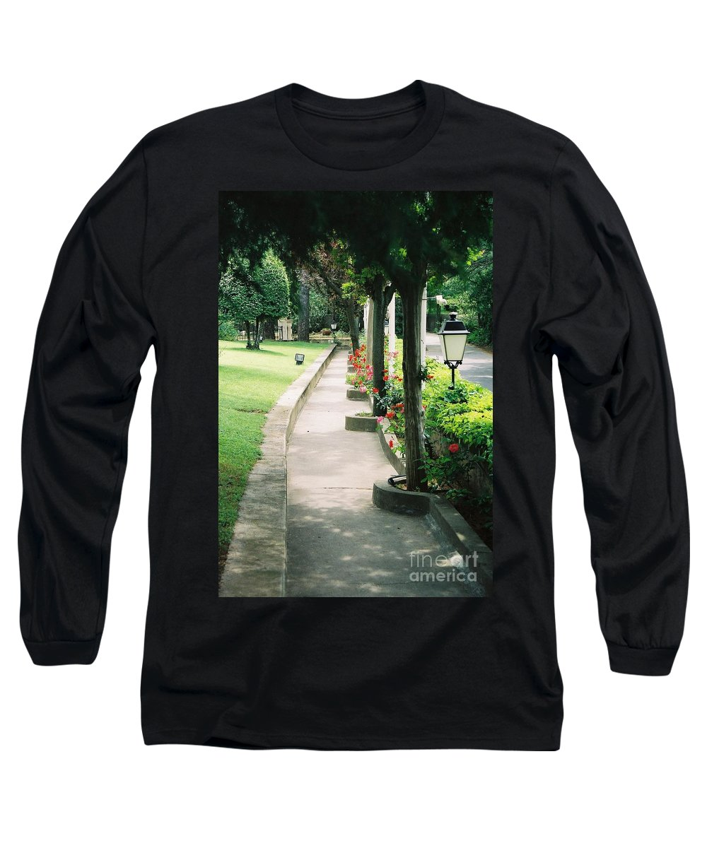 Arles Long Sleeve T-Shirt featuring the photograph Arles Walkway by Nadine Rippelmeyer