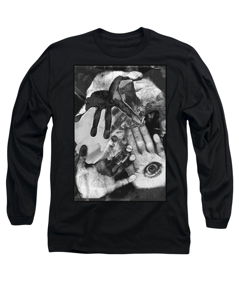 Hands Long Sleeve T-Shirt featuring the photograph Artist's Hands by Nancy Mueller