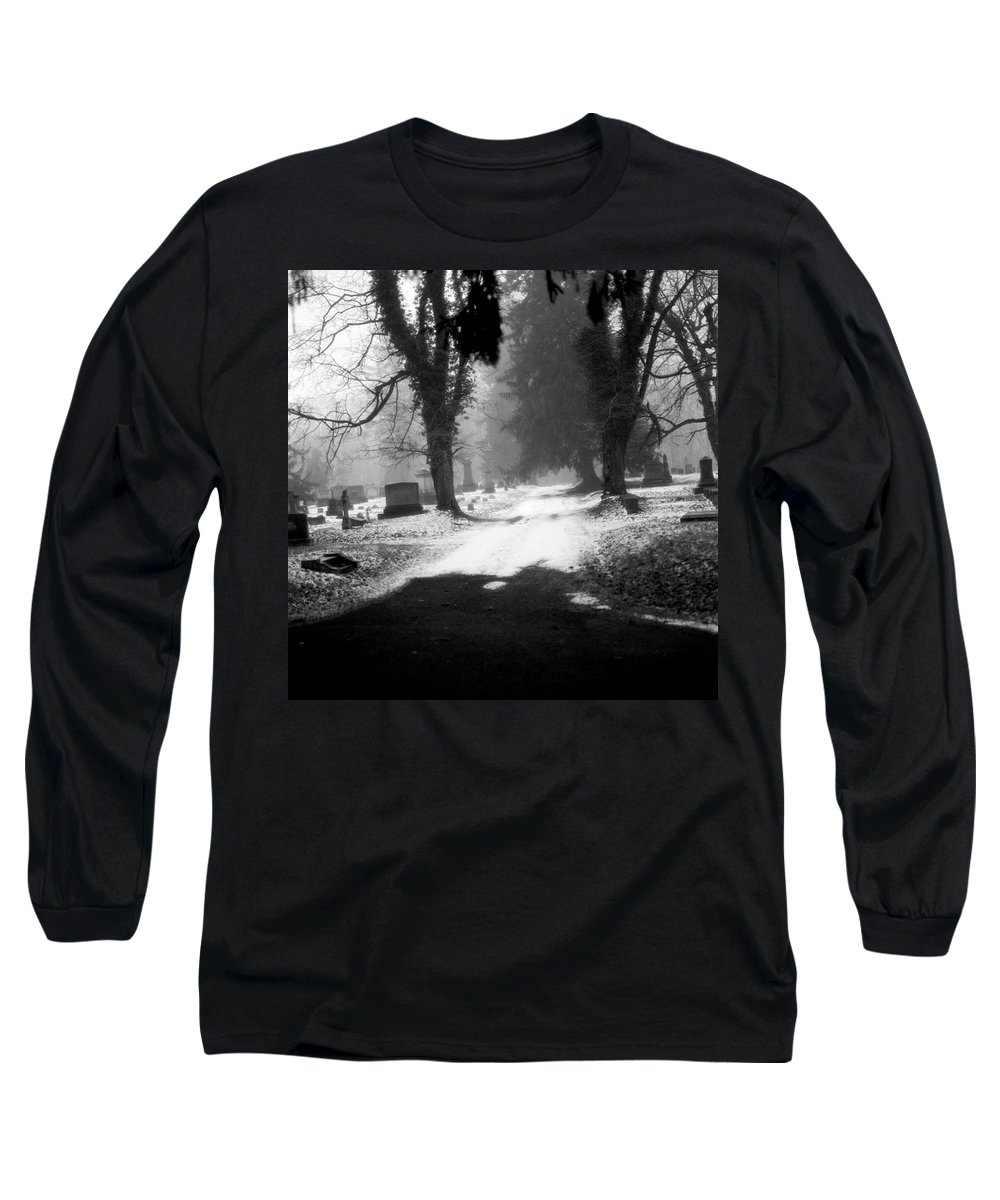Photograph Long Sleeve T-Shirt featuring the photograph Ashland Cemetery by Jean Macaluso