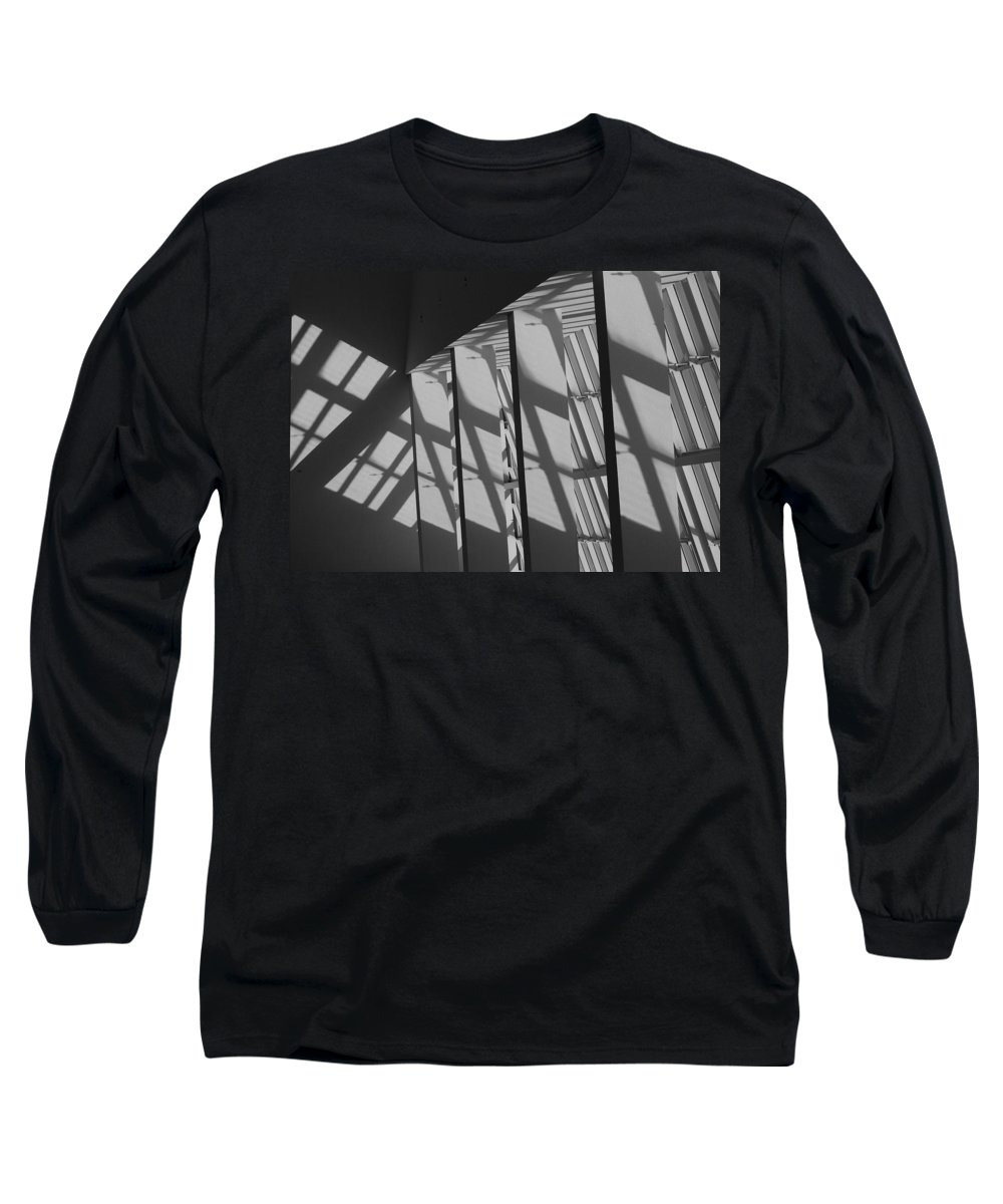 Shades Long Sleeve T-Shirt featuring the photograph Asylum Windows by Rob Hans