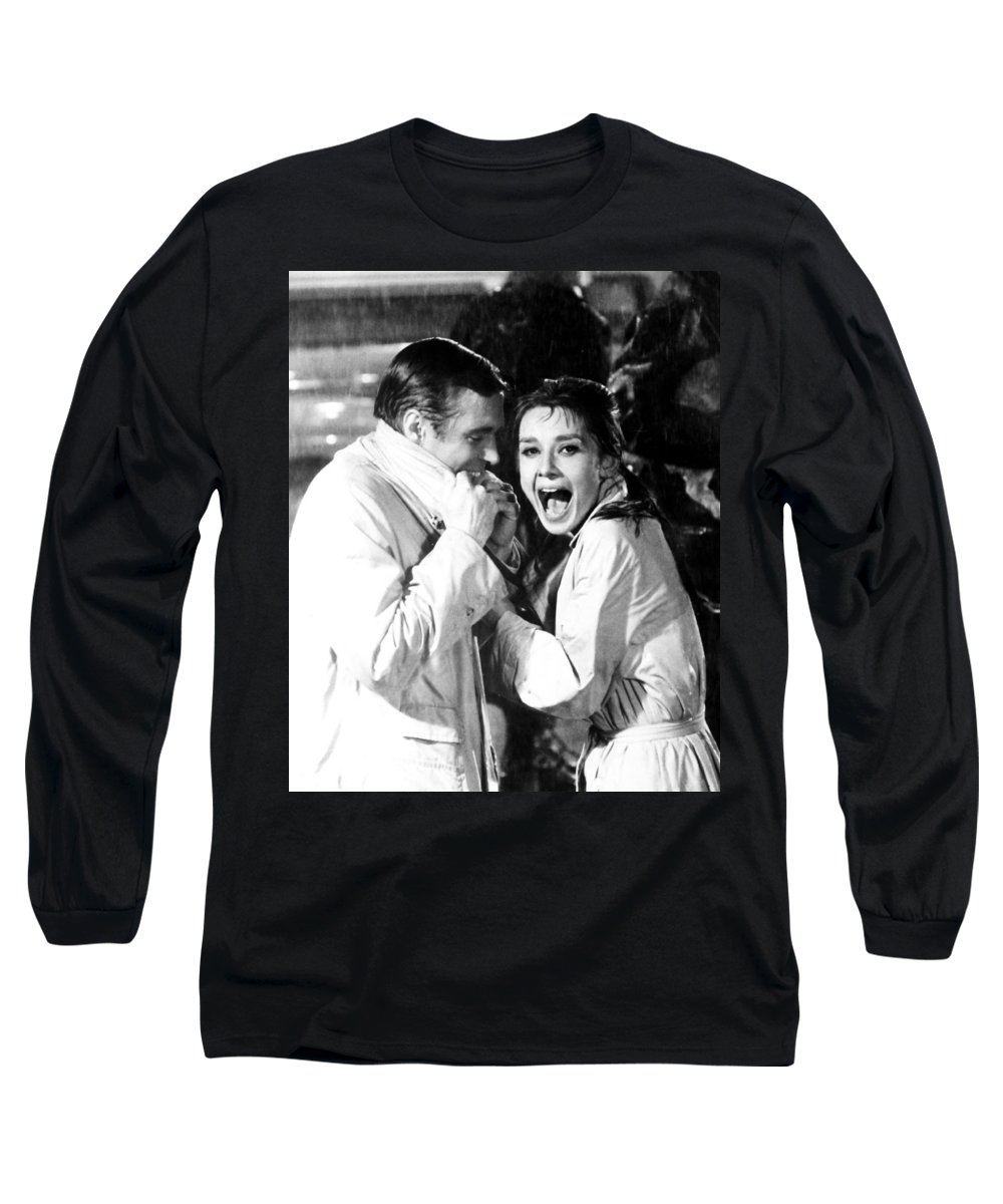 Audrey Hepburn Long Sleeve T-Shirt featuring the photograph Audrey Hepburn As Holly Golightly by R Muirhead Art