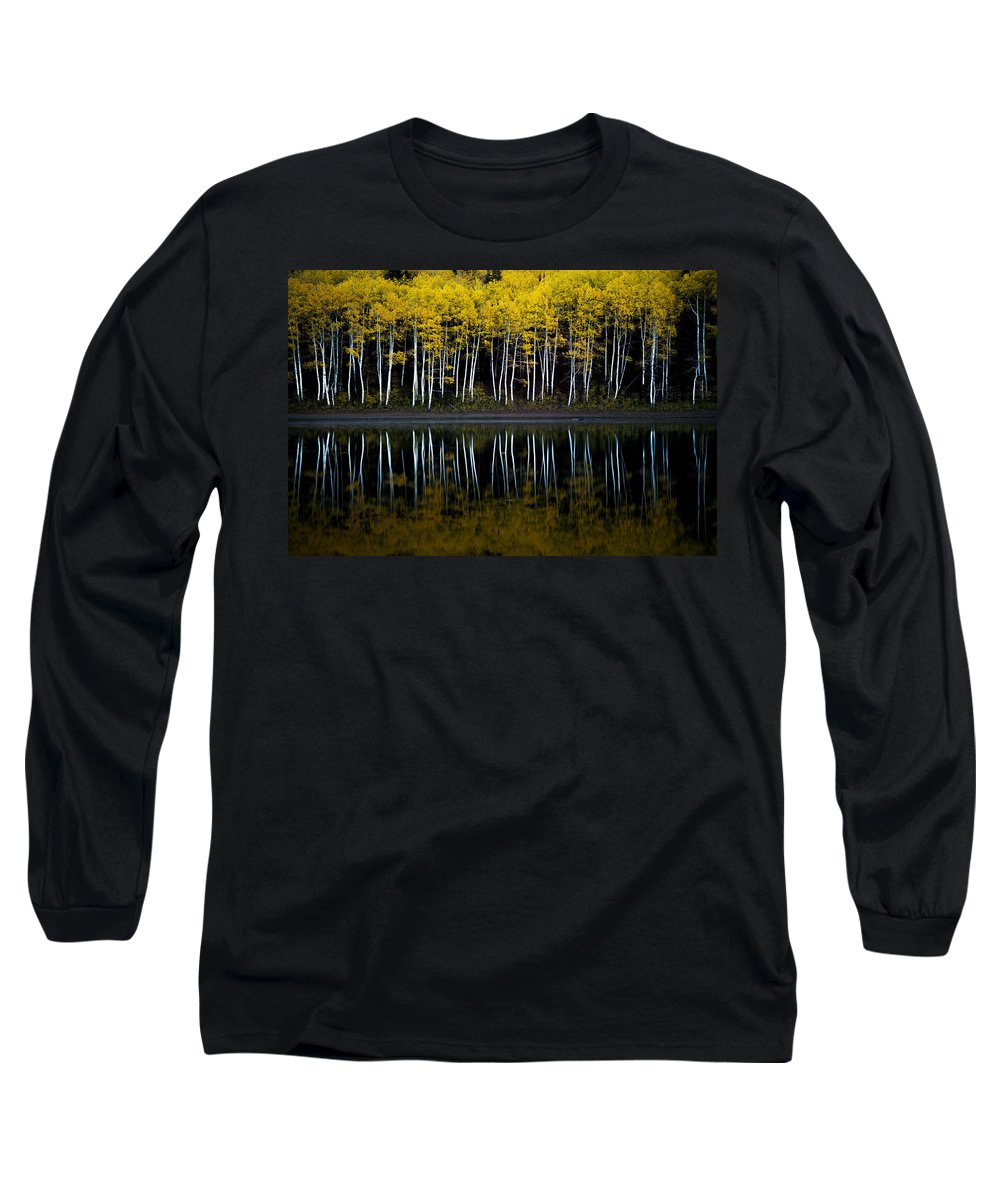 Utah Long Sleeve T-Shirt featuring the photograph Autumn Mirror by Dustin LeFevre