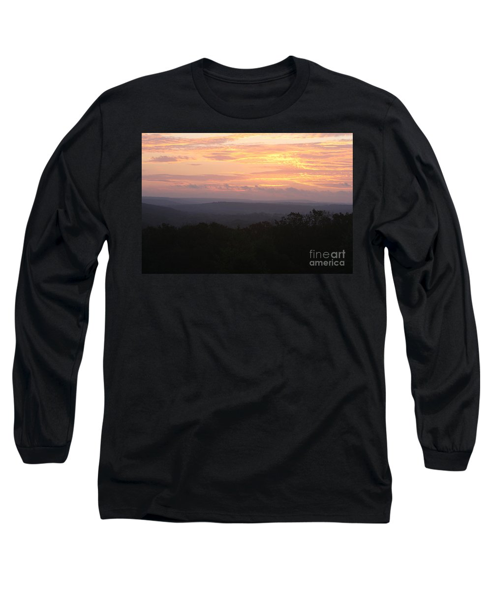 Sunrise Long Sleeve T-Shirt featuring the photograph Autumn Sunrise Over The Ozarks by Nadine Rippelmeyer