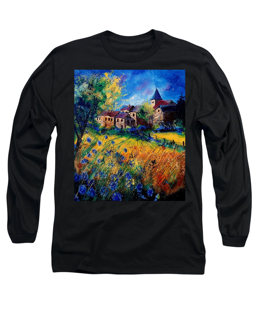 Tree Long Sleeve T-Shirt featuring the painting Awagne 67 by Pol Ledent