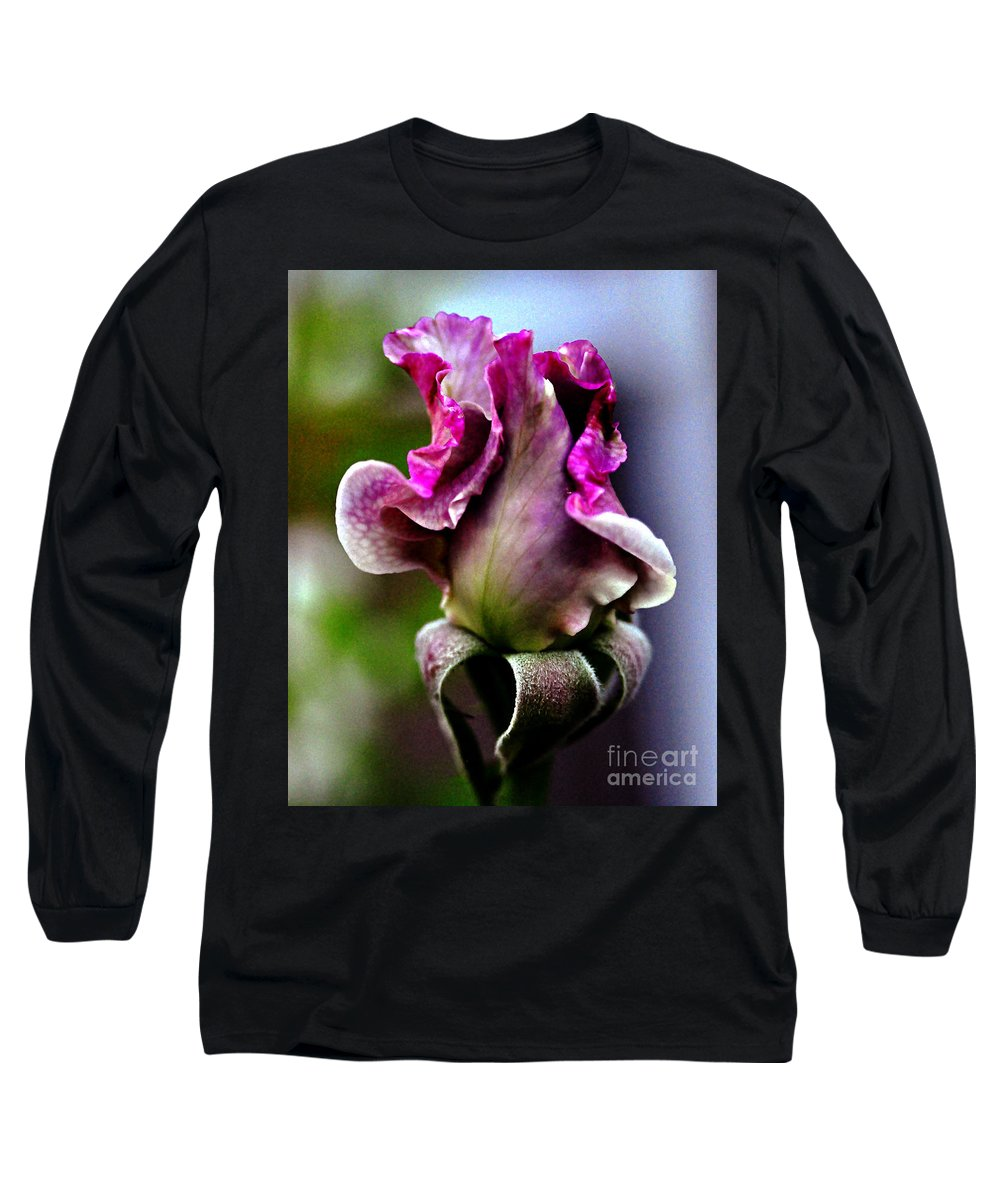 Clay Long Sleeve T-Shirt featuring the photograph Baby Bud by Clayton Bruster