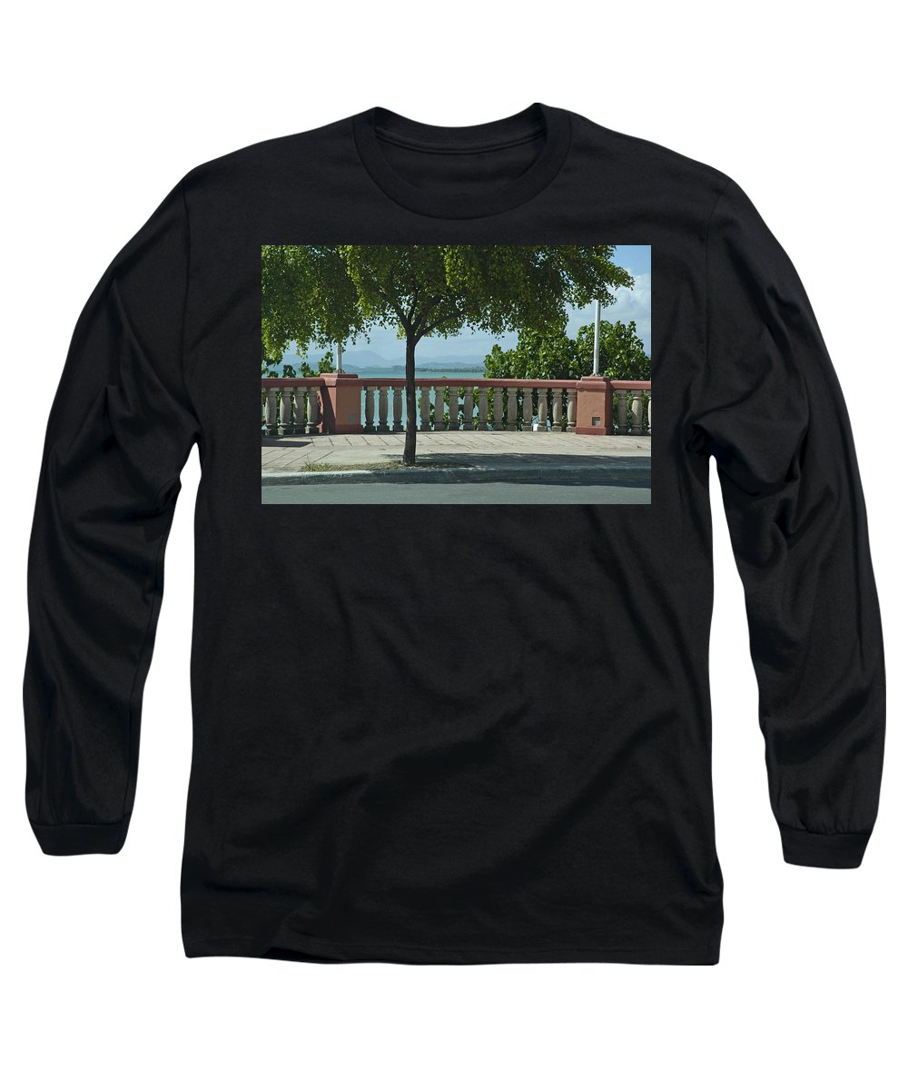 Landscape Long Sleeve T-Shirt featuring the photograph Balcony On The Beach In Naguabo Puerto Rico by Tito Santiago