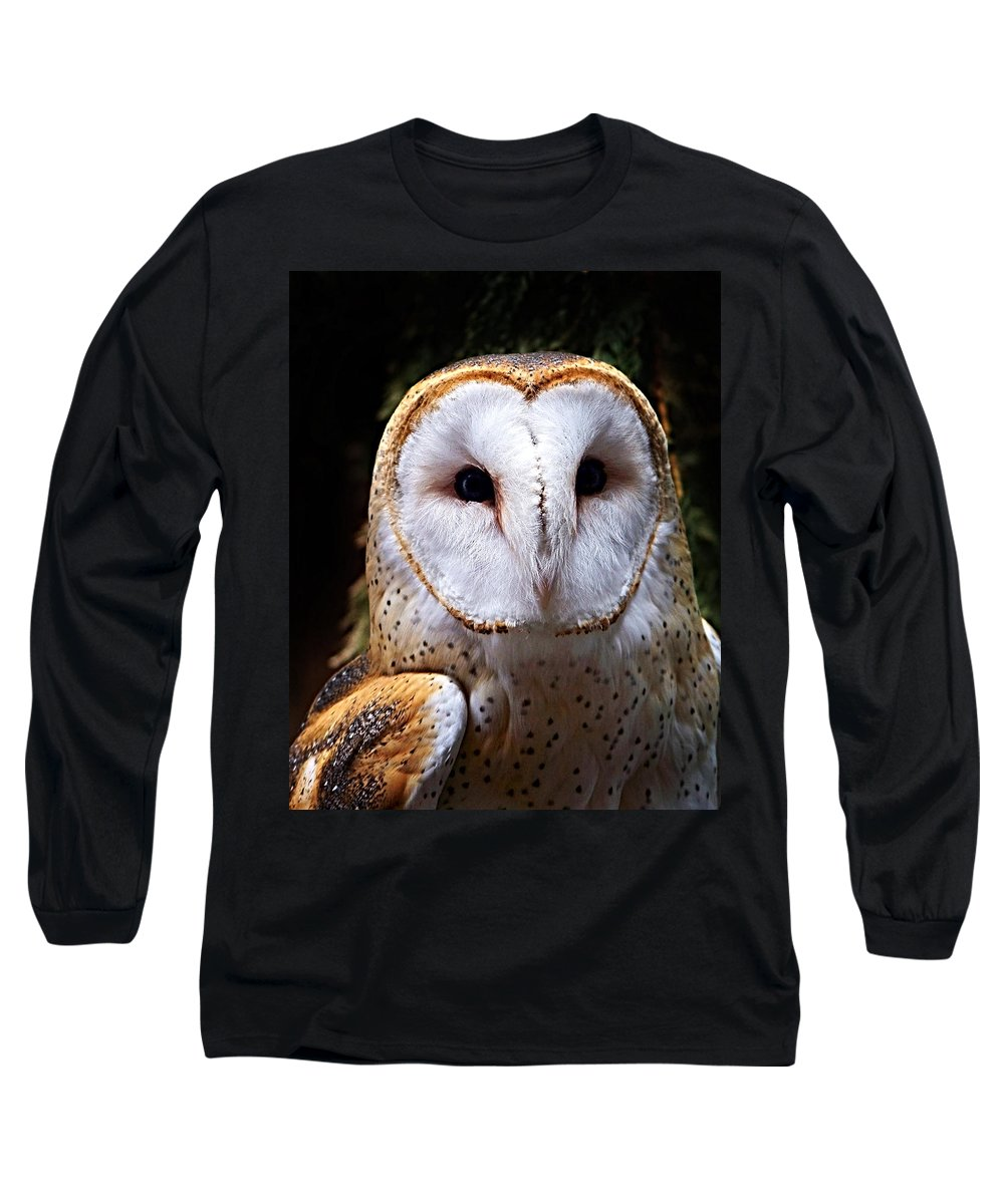Barn Owl Long Sleeve T-Shirt featuring the photograph Barn Owl by Anthony Jones