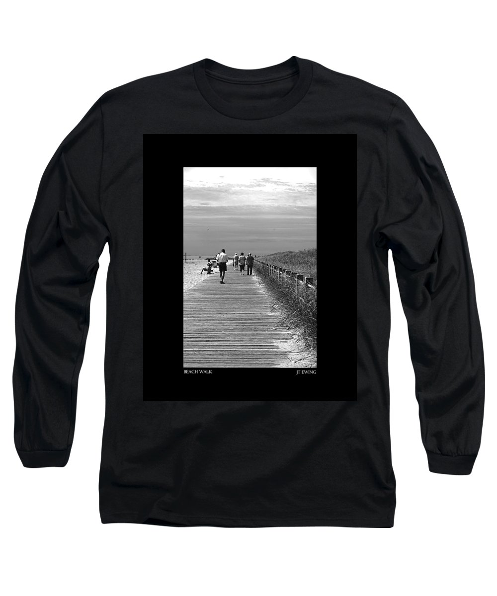 Boardwalk Long Sleeve T-Shirt featuring the photograph Beach Walk by J Todd