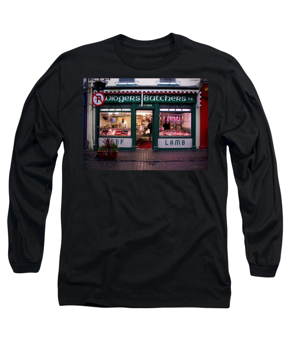 Butcher Long Sleeve T-Shirt featuring the photograph Beef Lamb by Tim Nyberg