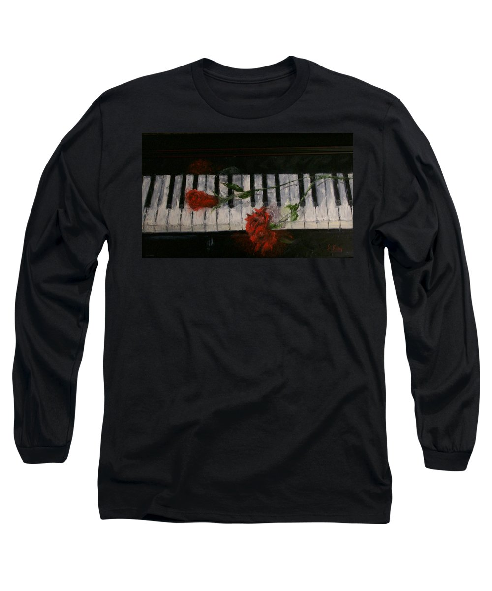 Still Life Long Sleeve T-Shirt featuring the painting Before The Concert by Stephen King