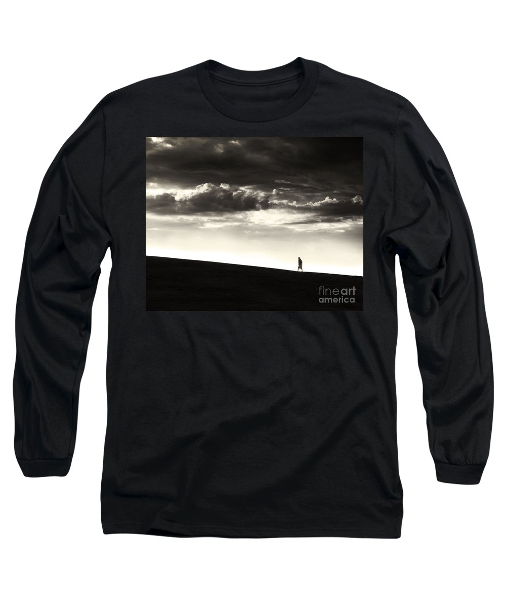 Man Long Sleeve T-Shirt featuring the photograph Between Living And Dying by Dana DiPasquale