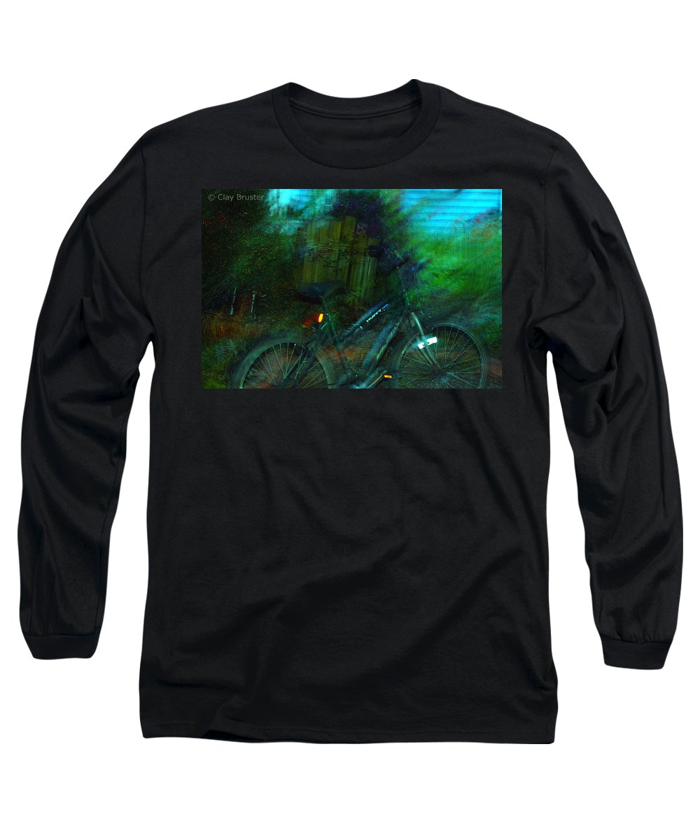 Clay Long Sleeve T-Shirt featuring the photograph Bicycle by Clayton Bruster