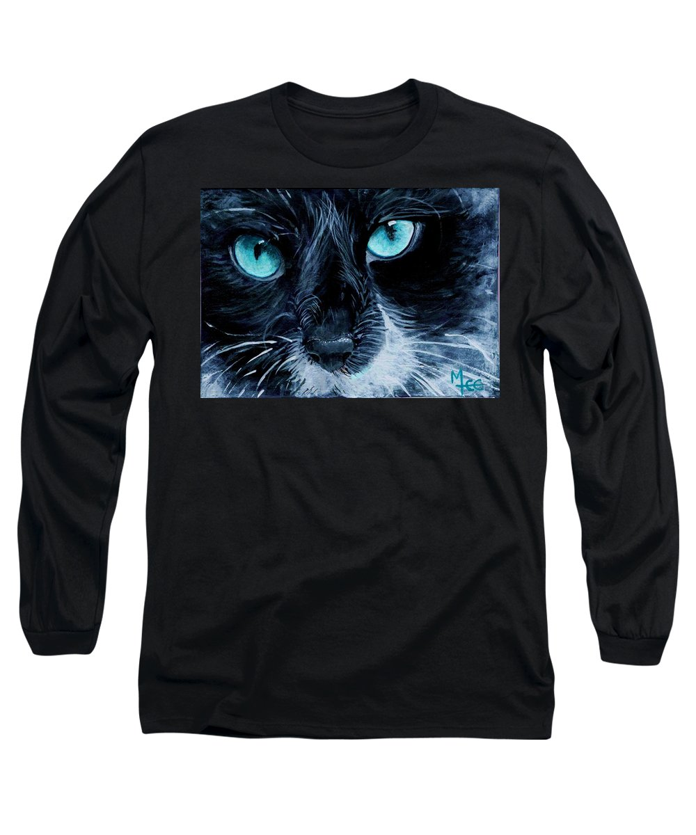 Charity Long Sleeve T-Shirt featuring the painting Big Blue by Mary-Lee Sanders