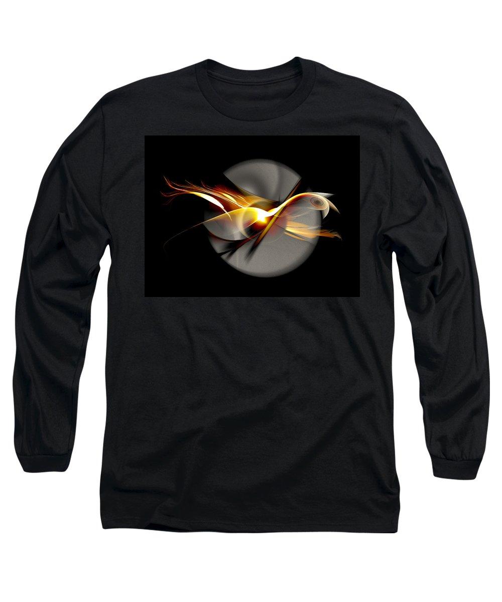 Bird Long Sleeve T-Shirt featuring the digital art Bird Of Passage by Aniko Hencz