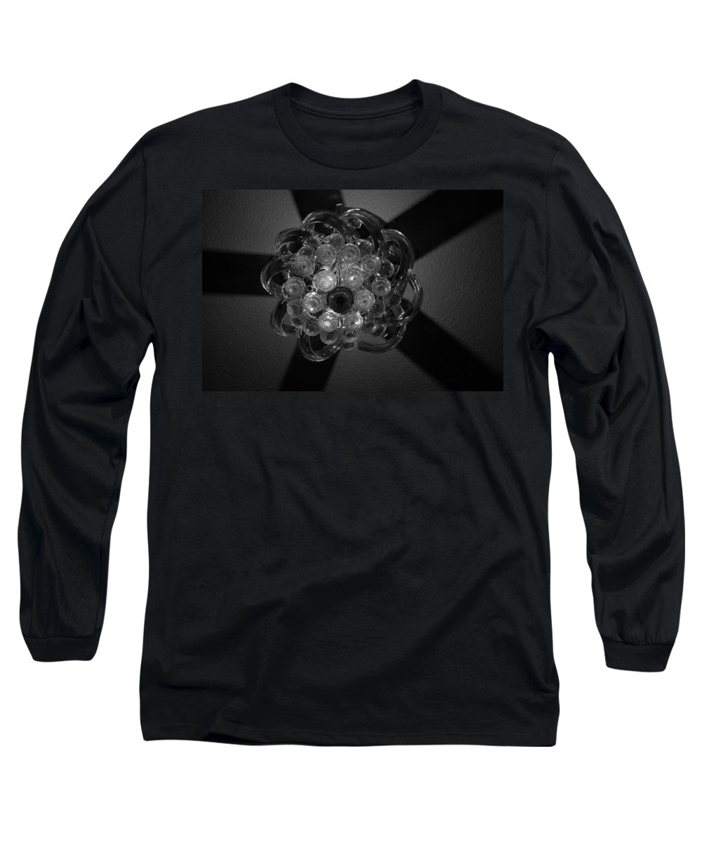 Fan Long Sleeve T-Shirt featuring the photograph Black And White Crystal by Rob Hans