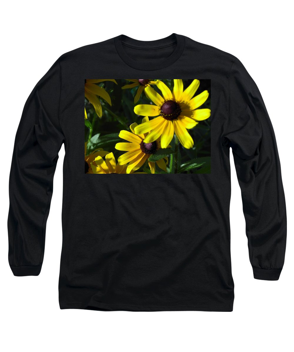 Charity Long Sleeve T-Shirt featuring the photograph Black Eyed Susan by Mary-Lee Sanders
