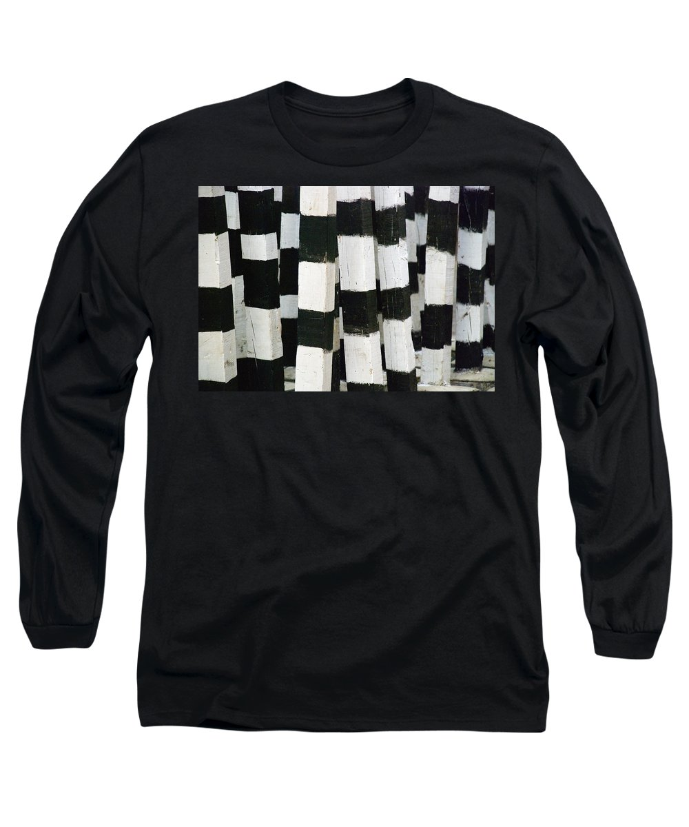 Skip Hunt Long Sleeve T-Shirt featuring the photograph Blanco Y Negro by Skip Hunt