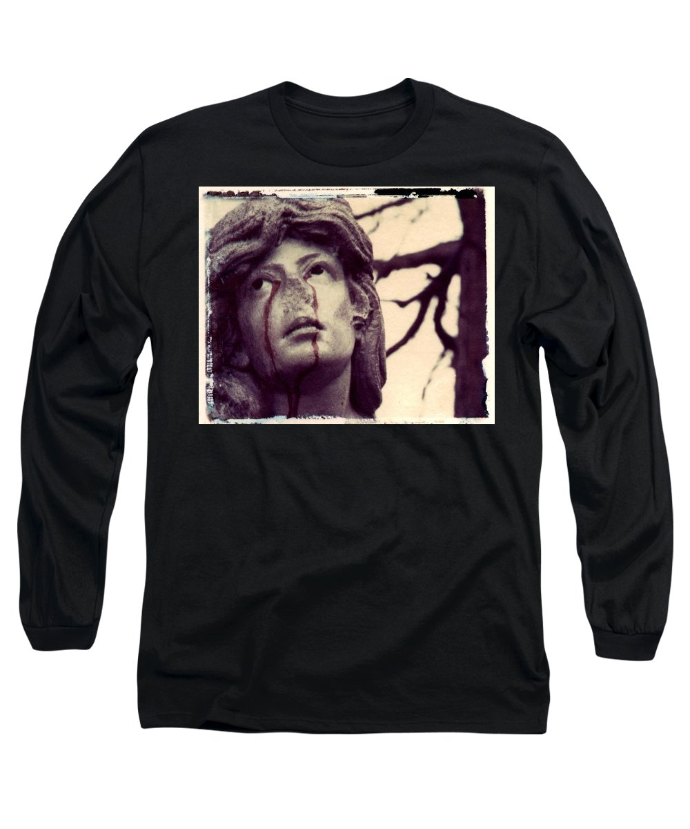 Polaroid Long Sleeve T-Shirt featuring the photograph Blood Is The New Black by Jane Linders