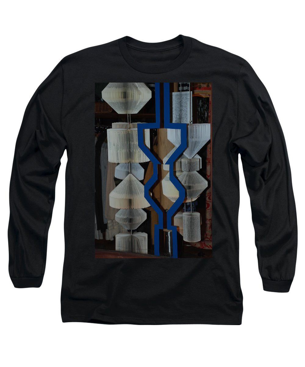 Window Long Sleeve T-Shirt featuring the photograph Blue And White by Rob Hans