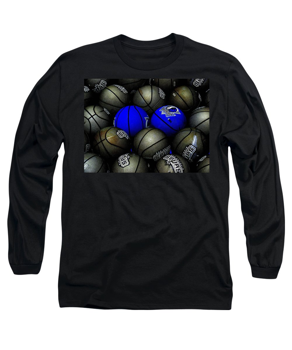 Basketball Long Sleeve T-Shirt featuring the photograph Blue Balls by Ed Smith