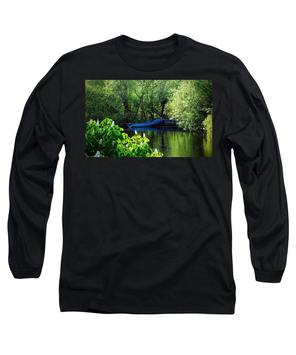 Irish Long Sleeve T-Shirt featuring the photograph Blue Boat Cong Ireland by Teresa Mucha