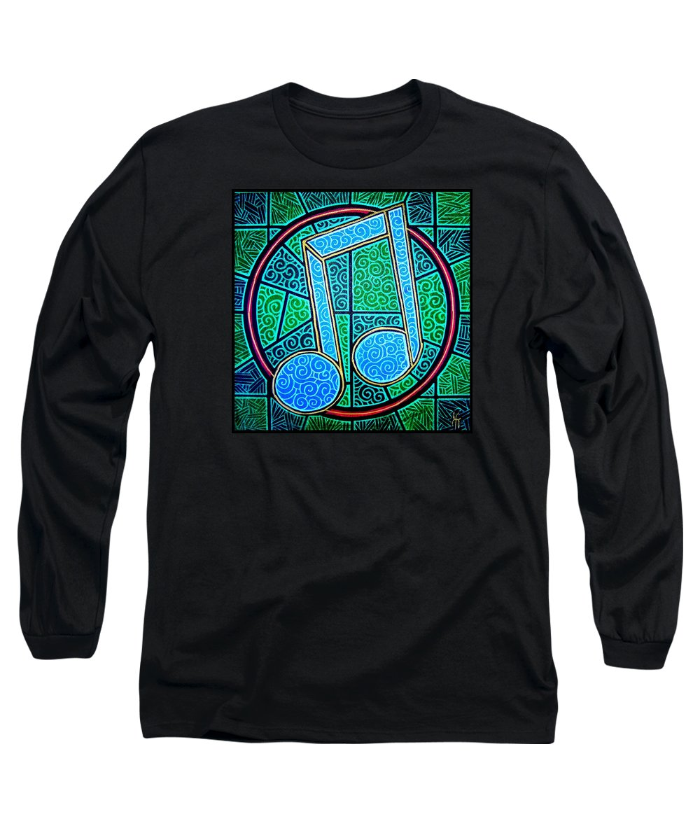 Music Long Sleeve T-Shirt featuring the painting Blue Note by Jim Harris