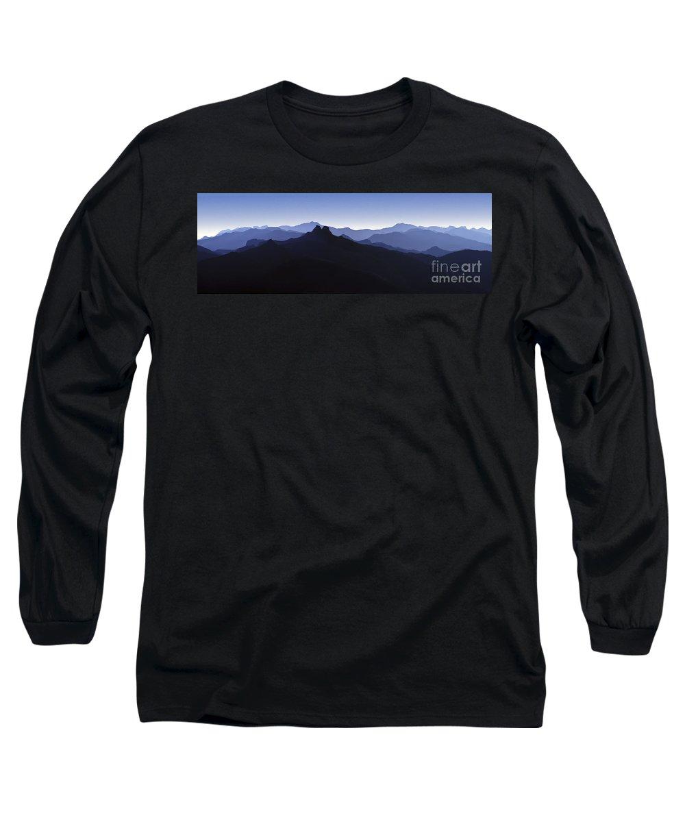 Blue Ridge Mountains Long Sleeve T-Shirt featuring the photograph Blue Ridge Mountains. Pacific Crest Trail by David Zanzinger