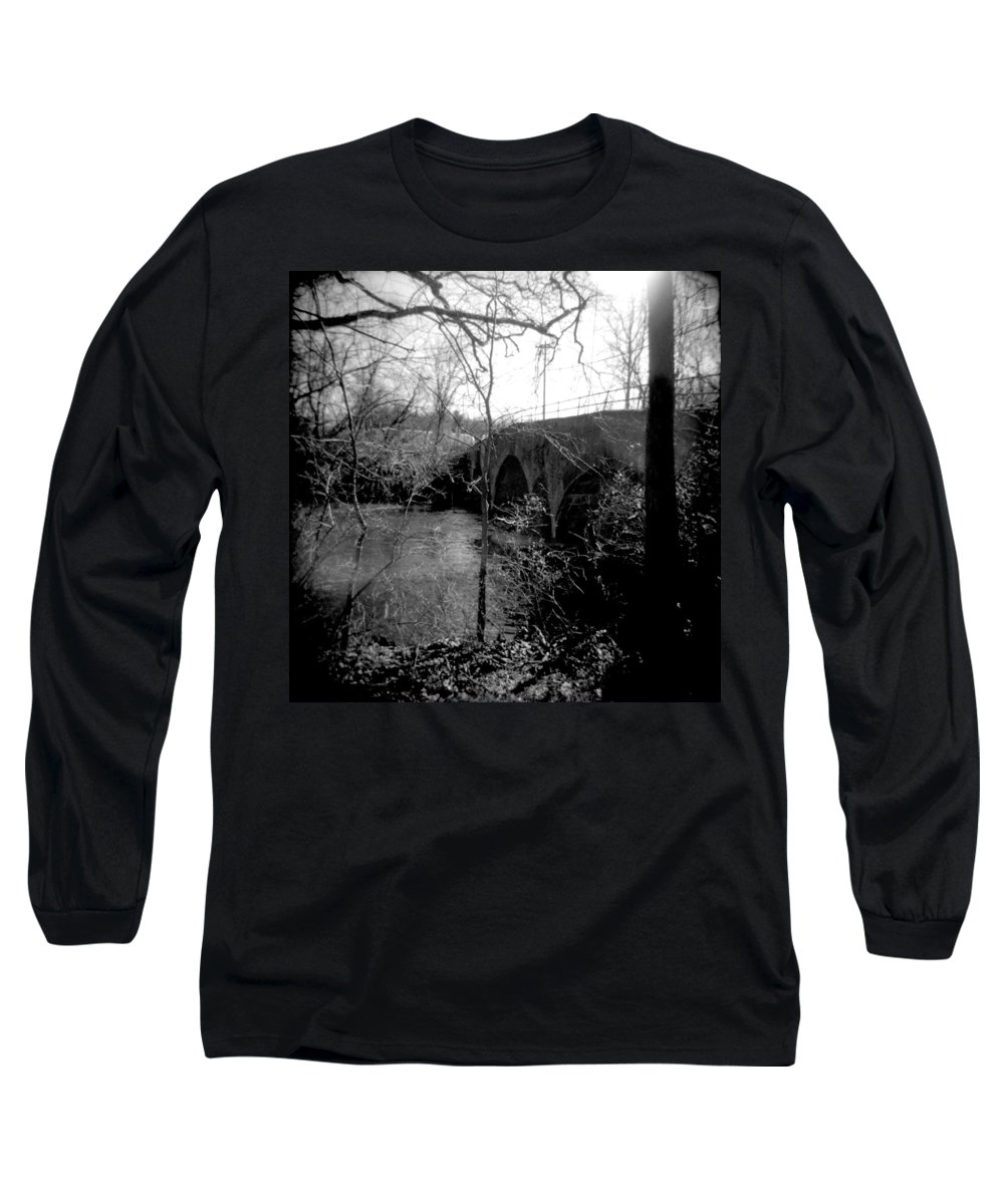 Photograph Long Sleeve T-Shirt featuring the photograph Boiling Springs Bridge by Jean Macaluso